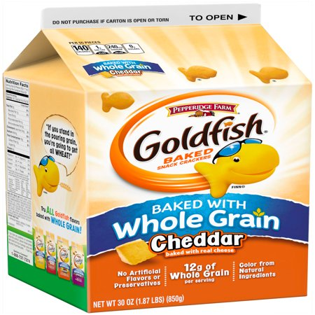 ... Farm® Goldfish® Whole Grain Cheddar Baked Snack Crackers 30 oz. Box