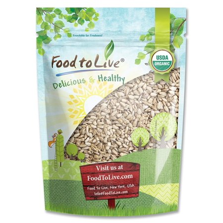 Food To Live ® Organic Sunflower Seeds (Raw, No Shell) (8 Ounces) ()