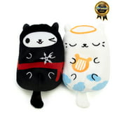 Cats vs Pickles Plushies 2-pack Ninja Kitty and Angeli-cat, For Ages 4+