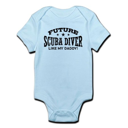CafePress - Future Scuba Diver Like My Daddy Infant Bodysuit - Baby Light Bodysuit