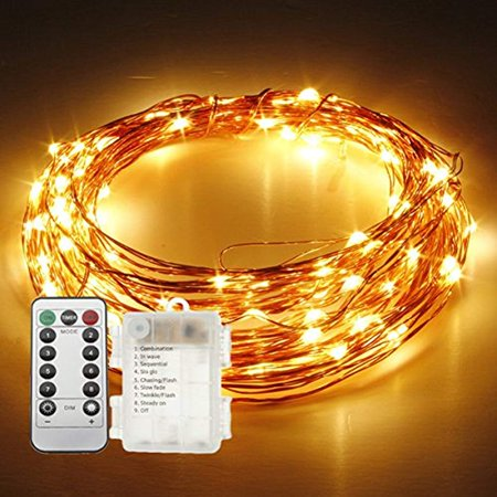 3 Pack String Lights 33ft 10m 100 Led New Fairy Firefly Starry Copper Wire Battery Operated Remote Control 8 Modes For Bar