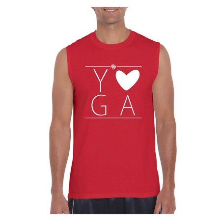 Love Yoga Men Ultra Cotton Sleeveless T-Shirt