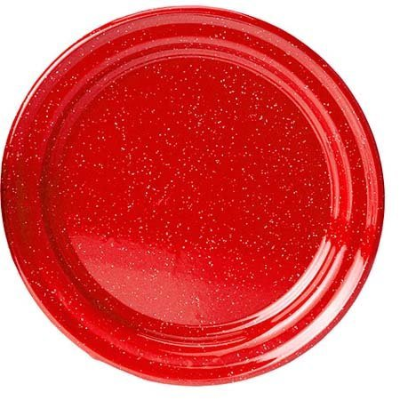 gsi outdoors red enamelware 10 inch plate