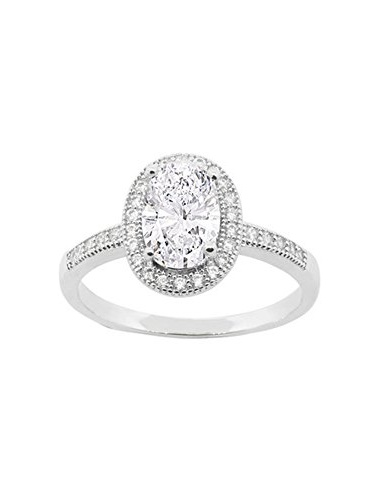 Cate and Chloe Blake 18k White Gold Plated Ring, Engagement Ring, Wedding Ring, Bridal Jewelry, Promise Ring MSRP $150
