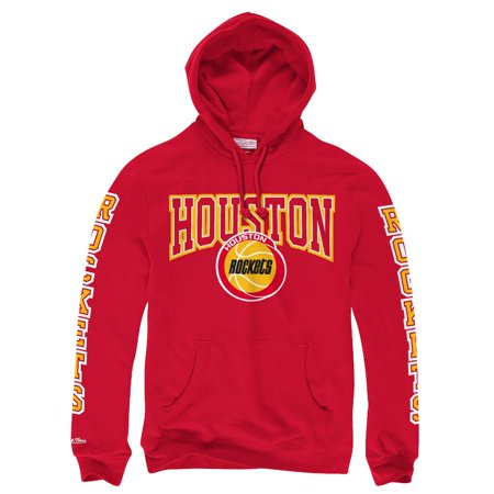 "Houston Rockets Mitchell & Ness NBA ""Visiting Team"" Pullover Hooded Sweatshirt by"