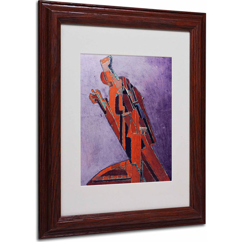"Trademark Fine Art ""Figure Study"" Matted Framed Art by Lawrence Atkinson, Wood Frame"