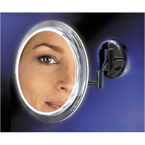SW35 Zadro Surround Light Wall Mount Mirror with 5x Magnification