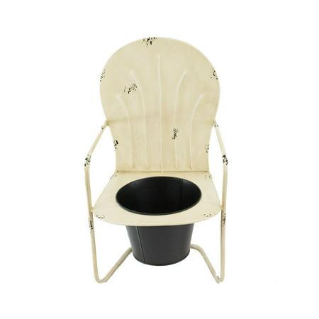 Fabulous Distressed Mini Metal Garden Chair Indoor Outdoor Planter Andrewgaddart Wooden Chair Designs For Living Room Andrewgaddartcom