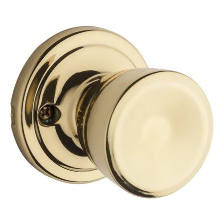 Kwikset 966A-3GC Abbey Interior Single Cylinder Handleset Trim Bright Brass Finish with New Chassis