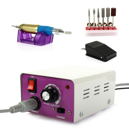 Electric Nail Drill Machine Pedicure File Acrylic Kit Set Bits Gel Polish  Professional Nail Care Manicure with Foot