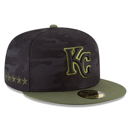Kansas City Royals New Era 2018 Memorial Day On-Field 59FIFTY Fitted Hat - Black - Kansas City Royals Hats