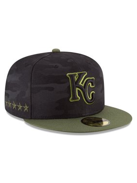 56b28c7e891 Product Image Kansas City Royals New Era 2018 Memorial Day On-Field 59FIFTY  Fitted Hat - Black