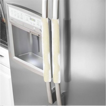 White Magnolia Handle - A Pair Refrigerator Handle Cover Kitchen Appliance Refrigerator Cover