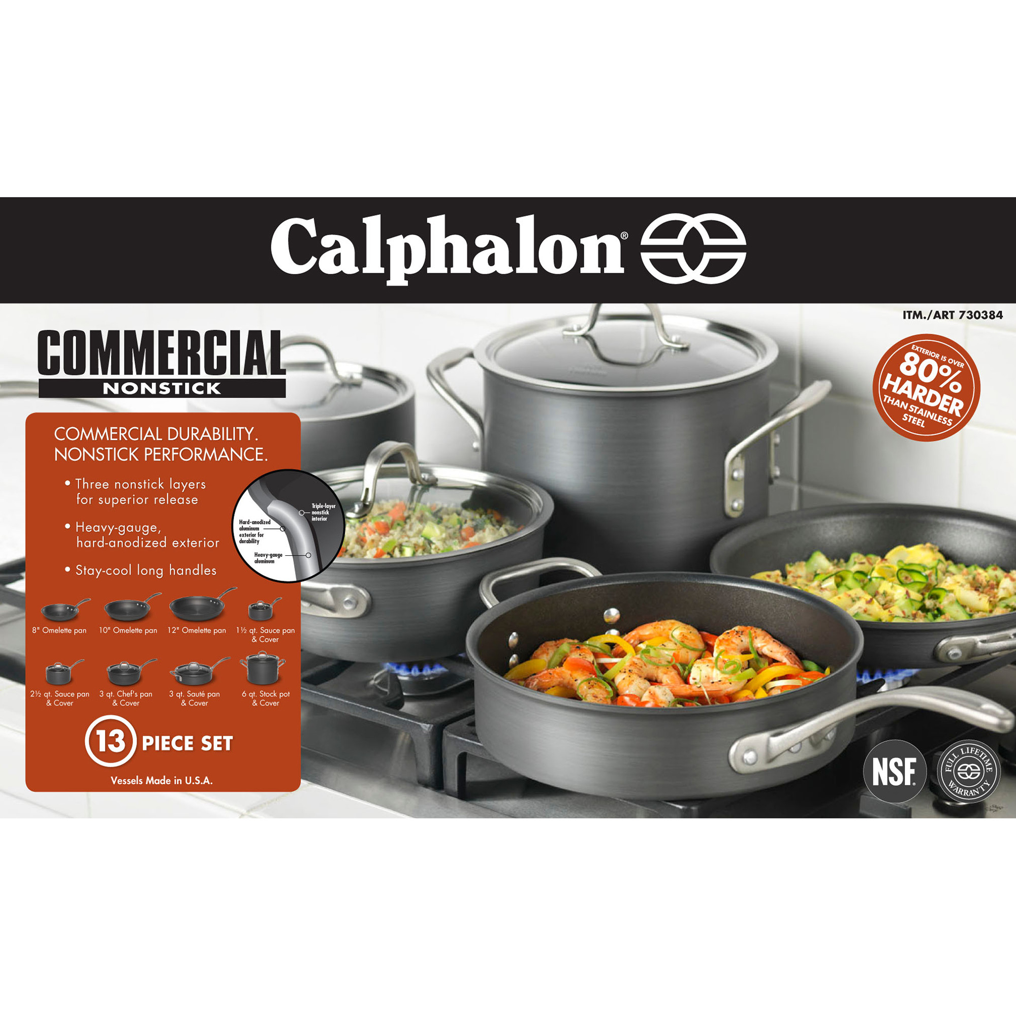 Calphalon 13-piece Hard Anodized Cookware Set