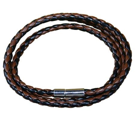 Braided Leather Wrap Bracelet Pearls Braided Leather Bracelet