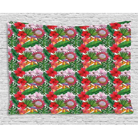 Tropical Tapestry Exotic Botany Concept With Plumeria