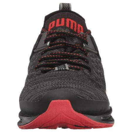 2f68f68e5 Puma Men's Ignite Evoknit Lo Pavement Black / Asphalt High Risk Red  Ankle-High Running ...