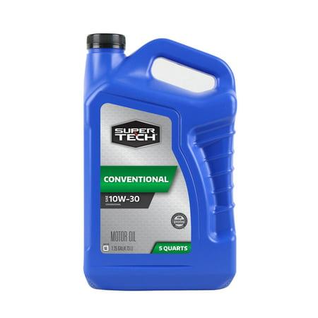(3 Pack) SuperTech 10W30 Motor Oil, 5-Quart