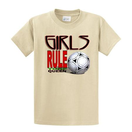 Soccer T-Shirt Girls Rule Turf Queen