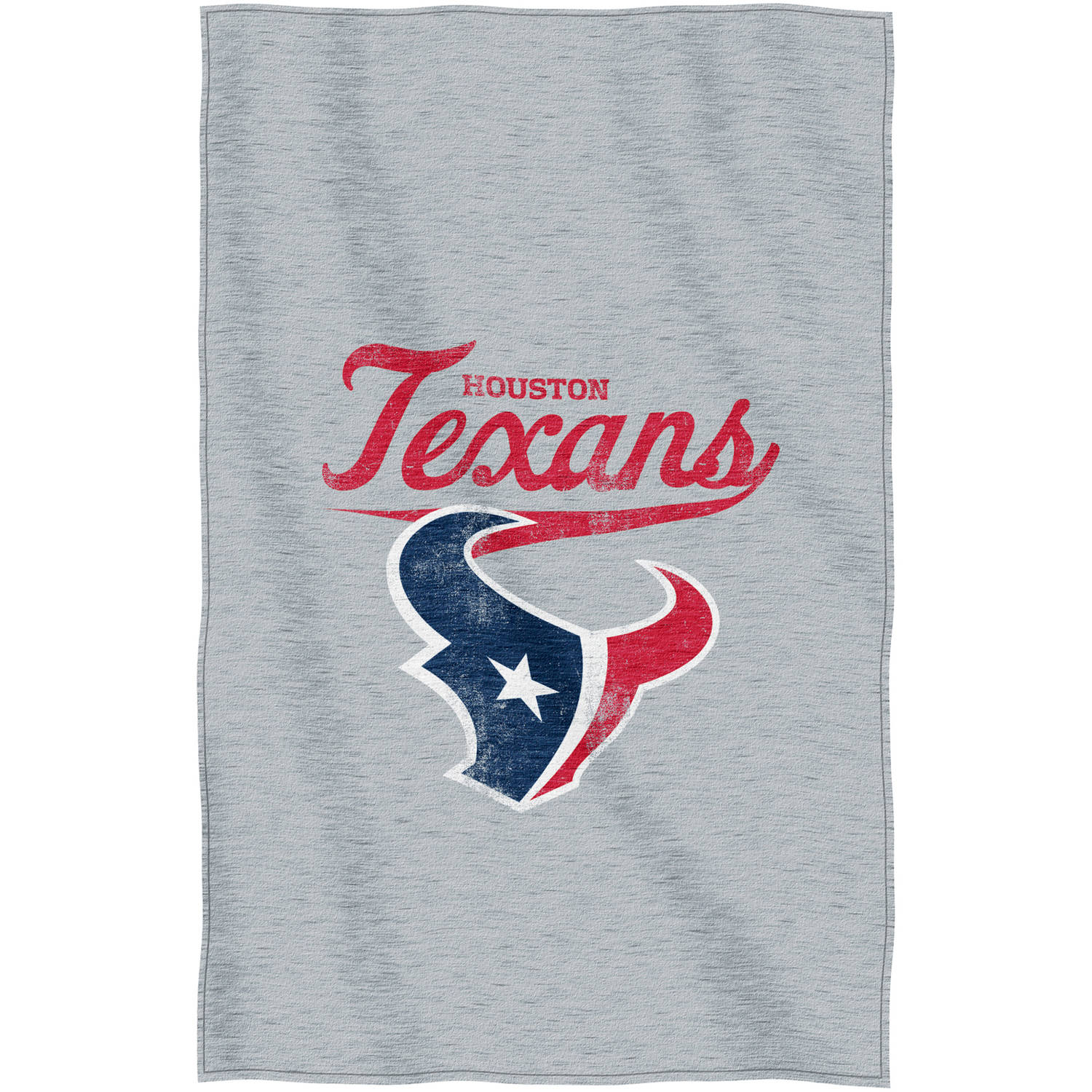 "NFL Houston Texans ""Script"" 54"" x 84"" Sweatshirt Throw"