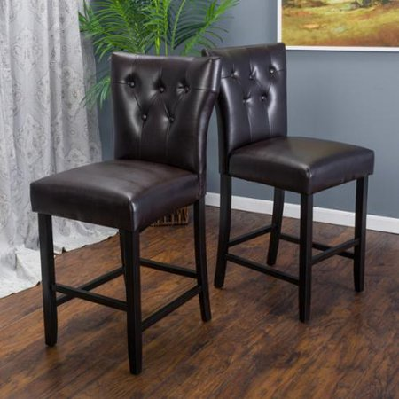 Christopher Knight Home Donner 27 Inch Bonded Leather Counter Stool Set Of 2