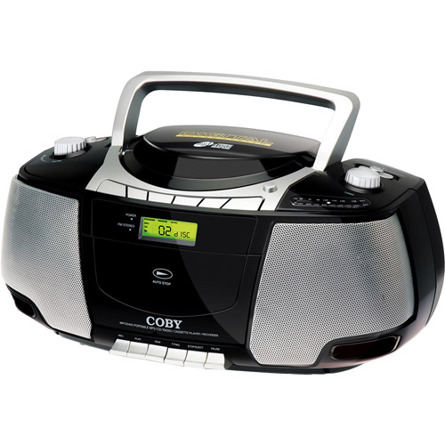 Coby Portable MP3/CD/Cassette Stereo with AM/FM Radio