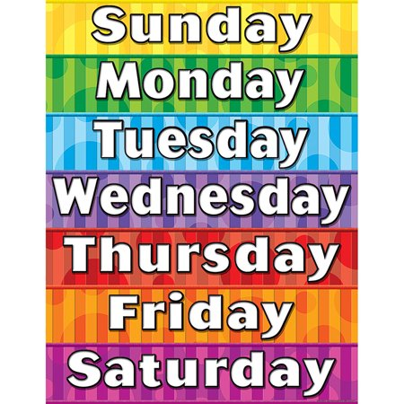 DAYS OF THE WEEK CHART - Seasons Chart