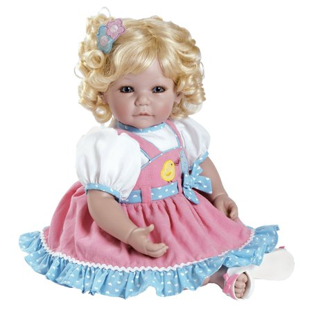 """Adora Toddler Chick Chat 20"""" Girl Weighted Doll Gift Set for Children 6+ Huggable Vinyl Cuddly Snuggle Soft Body Toy"""