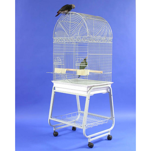 A&E Cage Co. Dome Top Bird Cage with Plastic Base and Stand by A&E Cage Co.