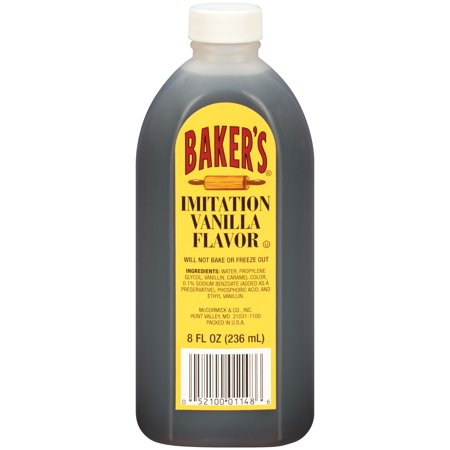 Kosher Vegan Vanilla Extract - (4 pack) Baker's Imitation Vanilla Extract, 8 fl oz