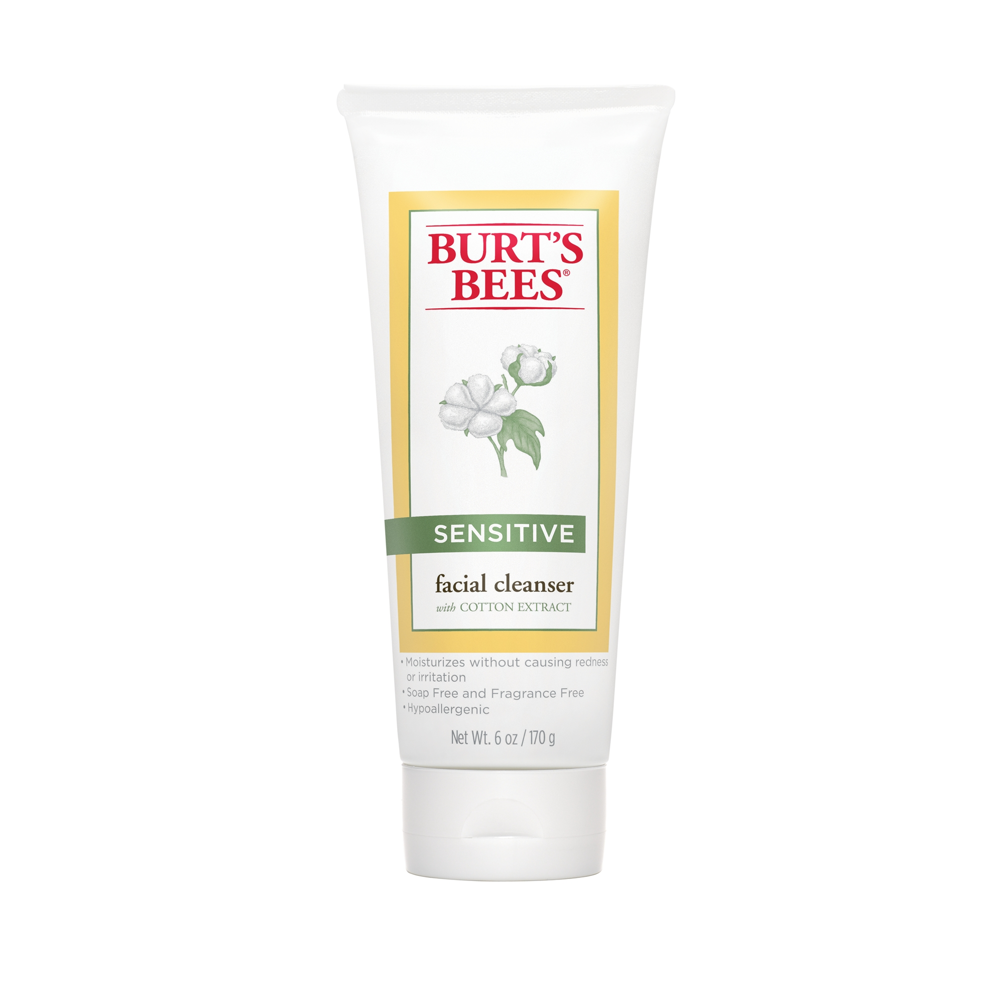 Burt's Bees Face Cleanser for Sensitive Skin, 6 oz