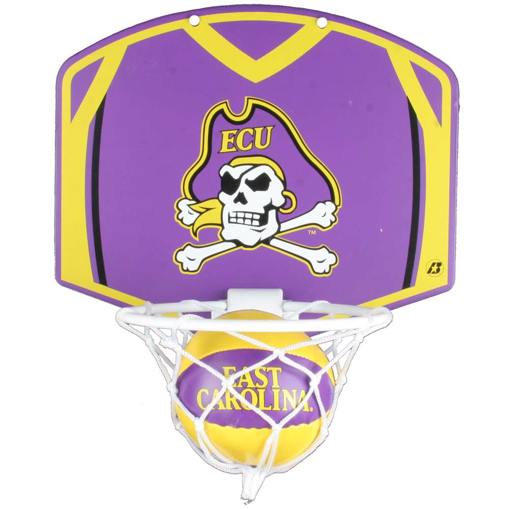 East Carolina Pirates Mini Basketball And Hoop Set