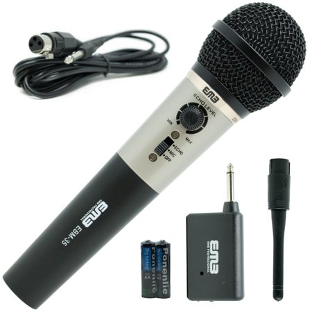 EMB Professional Handheld Wireless Microphone W/ Echo For Church Home - Echo Microphones