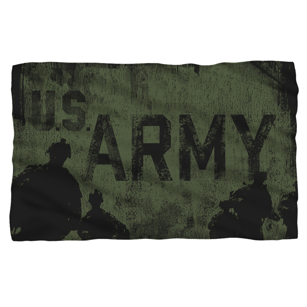 Army Strong Fleece Blanket White 48X80