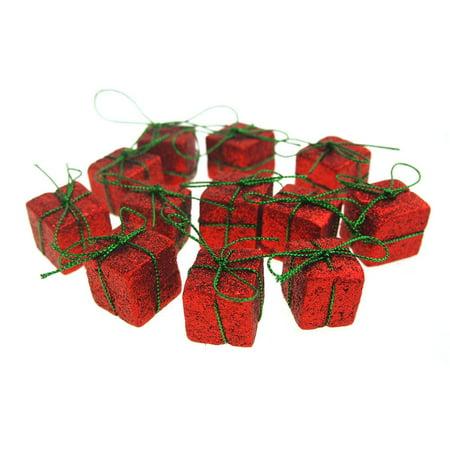 Christmas Styrofoam Presents Cut Out Red Glitter, 1-Inch, 12 (Best Way To Cut Styrofoam Panels)