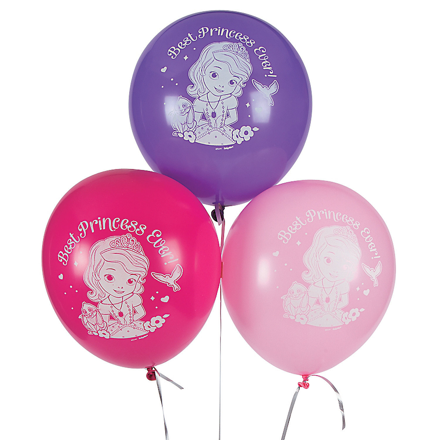 "Sofia the First 12"" Latex Balloons 6 Piece(s)/PK 2PK"