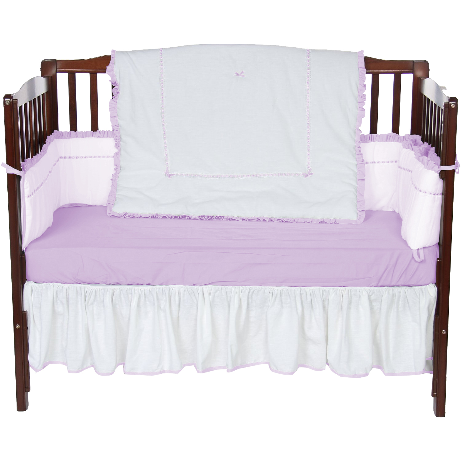 Baby Doll Bedding Unique 4 Piece Crib Bedding Set in Lavender by Baby Doll Bedding