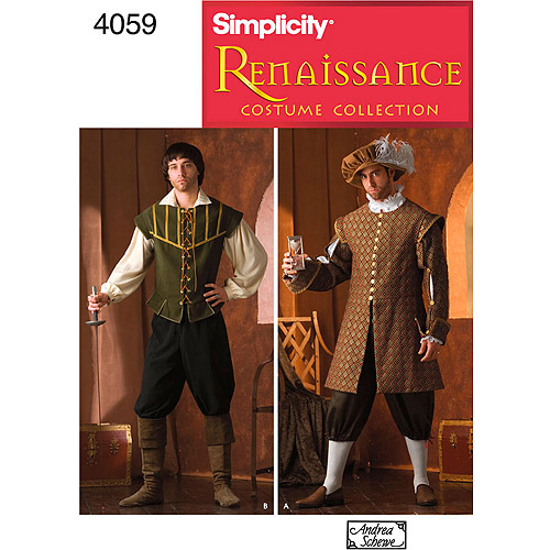 Simplicity Pattern Menu0027s Renaissance Costumes (XS S M L ...  sc 1 st  Walmart & Halloween Costume Sewing Patterns