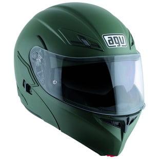 AGV Numo EVO ST Solid Modular Motorcycle Helmet Matte Green