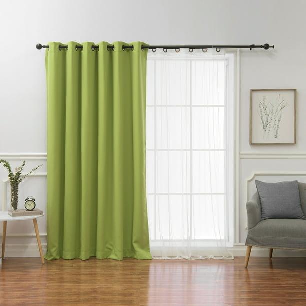Sheer Curtain Panel Avocado 80, Curtain Panel Width