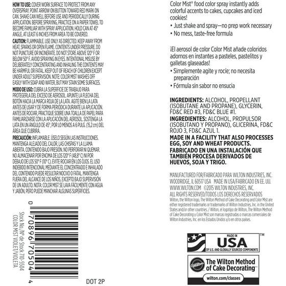 (2 pack) Wilton Violet Color Mist Food Color Spray, 1 5 oz