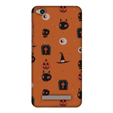 Xiaomi Redmi 4a Case, Premium Halloween Handcrafted Printed Designer Hard ShockProof Case Back Cover for Xiaomi Redmi 4a - Spooky Collage (Hard Halloween)