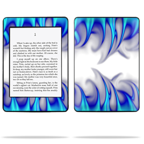 Mightyskins Protective Skin Decal Cover for Amazon Kindle Paperwhite eBook Reader wrap sticker skins Blue Fire