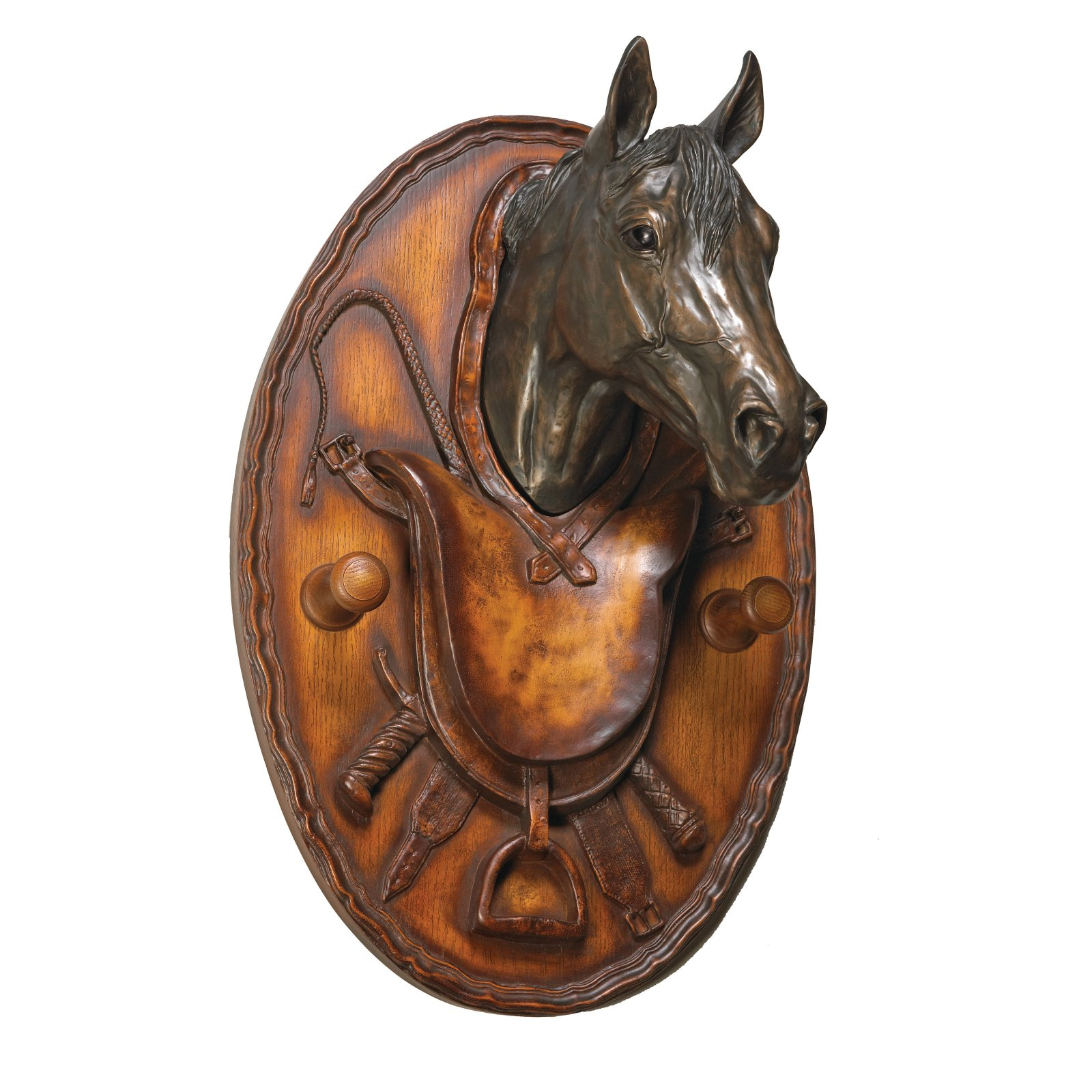 Equestrian Plaque Coat Hook