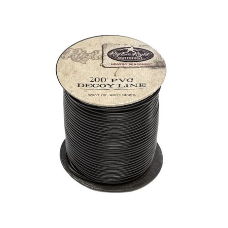 - Rig'Em Right Waterfowl 1001 Black 200' PVC Decoy Line