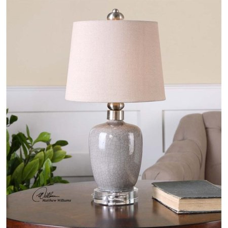 Uttermost Ovidius Mini Crackle Gray Table Lamp - image 2 of 2