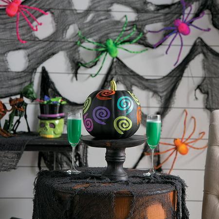 Fun Express - Spookadelic Neon Foam Pumpkin for Halloween - Home Decor - Decorative Accessories - Misc Decorative Accessories - Halloween - 1 Piece