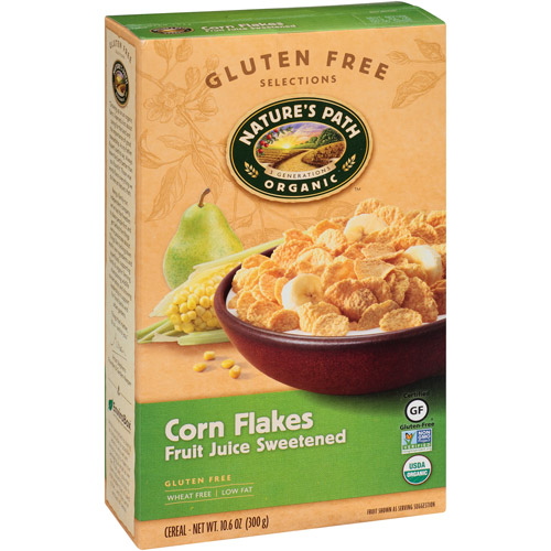 Nature's Path Organic Fruit Juice Sweetened Corn Flakes Cereal, 10.6 oz, (Pack of 12)