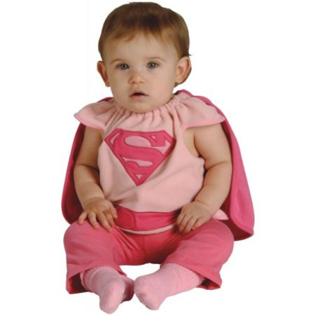 Rubie's Costume Co Baby Girl's DC Superheroes Supergirl Deluxe Bib, Multi, One Size - Baby Supergirl Costume