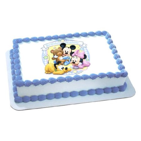 Disney Babies Mickey & Minnie Birthday Wishes Edible Frosting Cake Topper*](Mickey And Minnie Halloween Cake Topper)